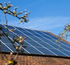 Low pressure solar panel cleaning